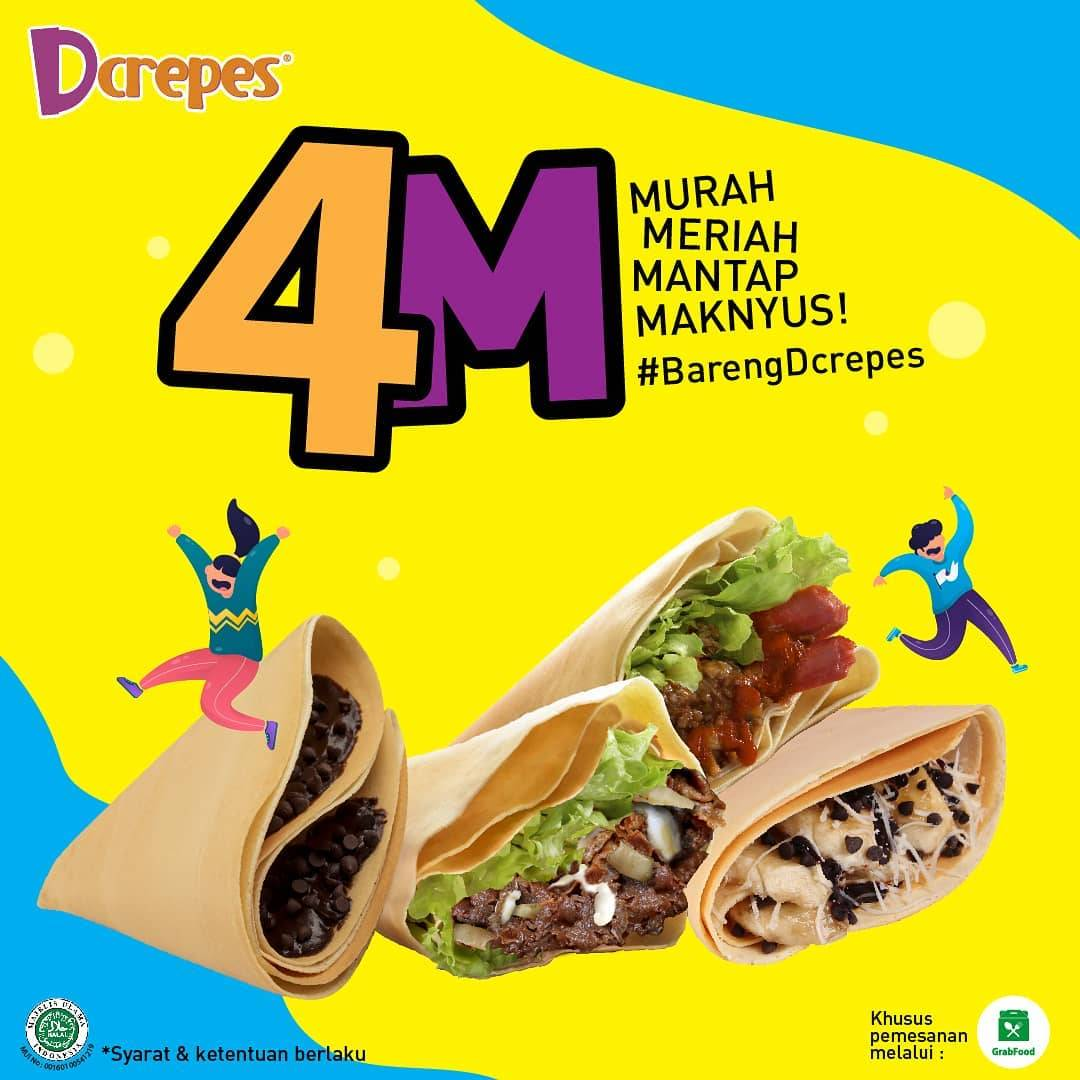 Diskon D'Crepes Promo 4M Spesial