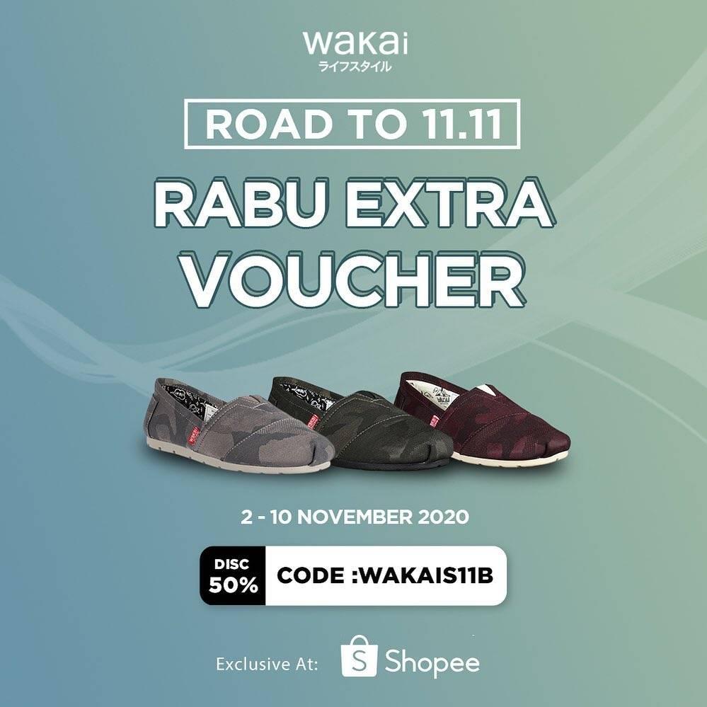 Diskon Wakai Road To 11.11 Rabu Extra Voucher - Diskon 50% Di Shopee