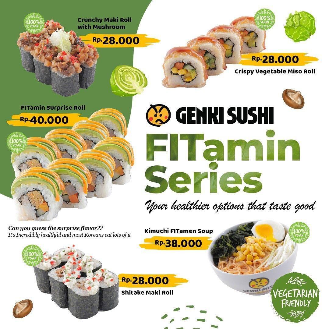 Diskon Genki Sushi Promo FITamin Series