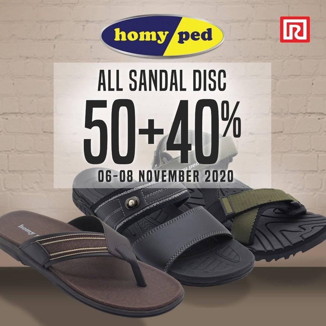 Diskon Ramayana Dept Store Discount 50% + 40% On Homyped Sandals