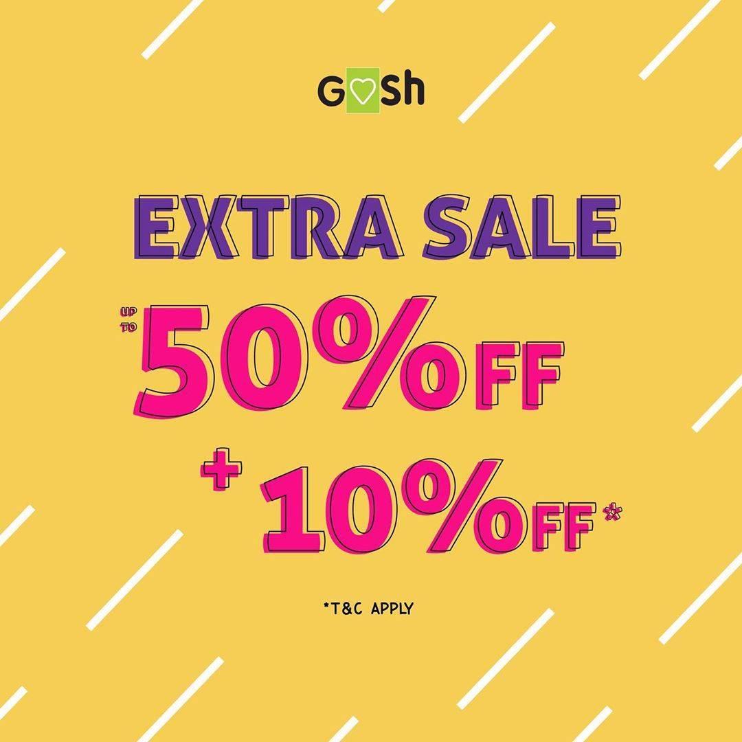 Diskon Gosh Extra Sale 50% Off + 10% Off