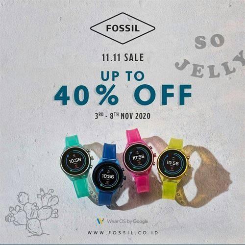 Diskon Fossil Promo 11.11 Diskon Hingga 40%