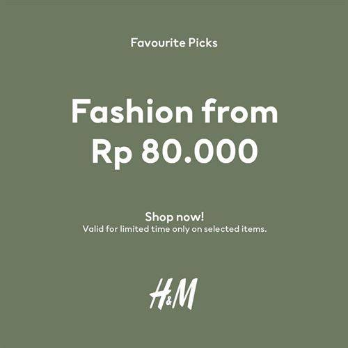 Diskon H&M Promo Favorite Picks From 80k