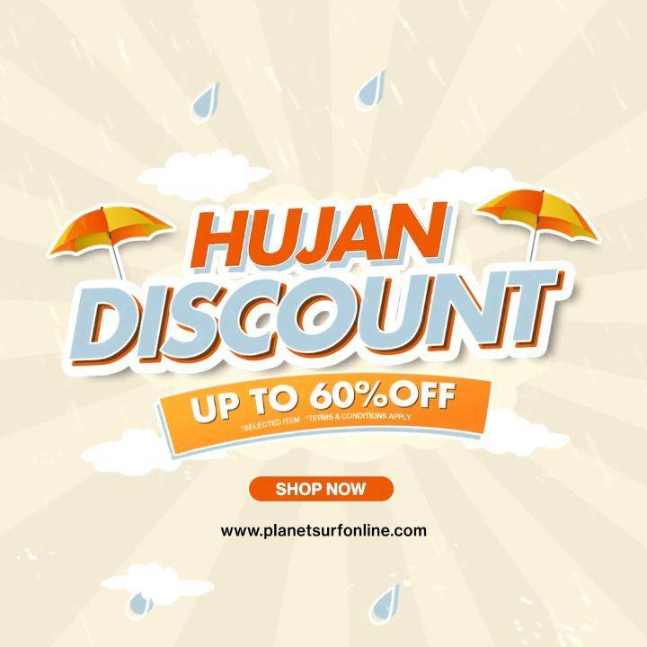 Diskon Planet Surf Promo Hujan Discount Up To 60%