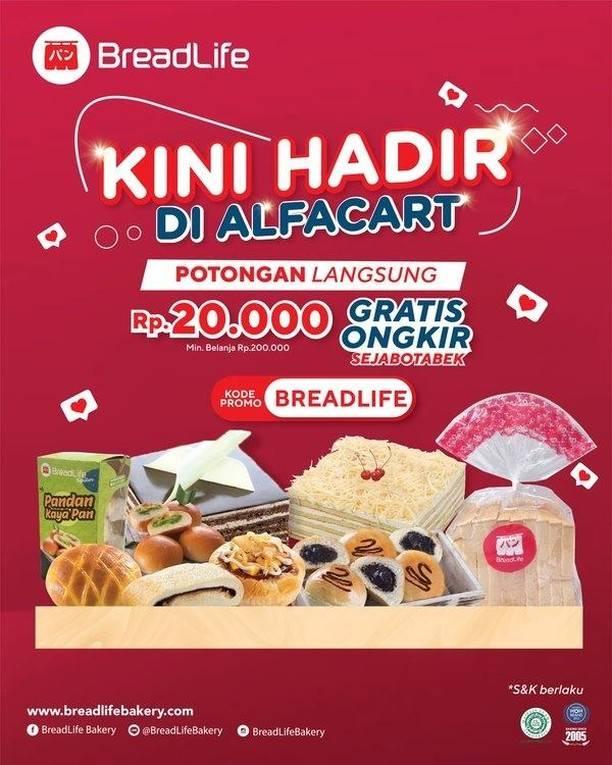Diskon Breadlife Promo Potongan Rp. 20.000 + Gratis Ongkir Sejabotabek Di Alfacart