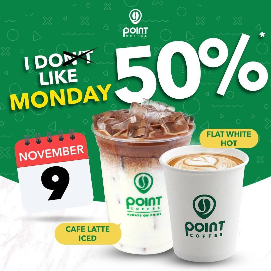 Diskon Point Coffee Discount 50% Off On Morning Coffee