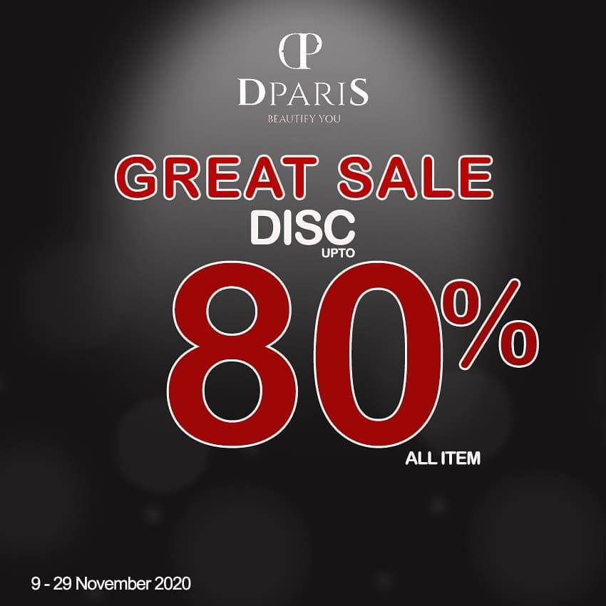Diskon D'Paris Great Sale Discount Up To 80% Off On All Item