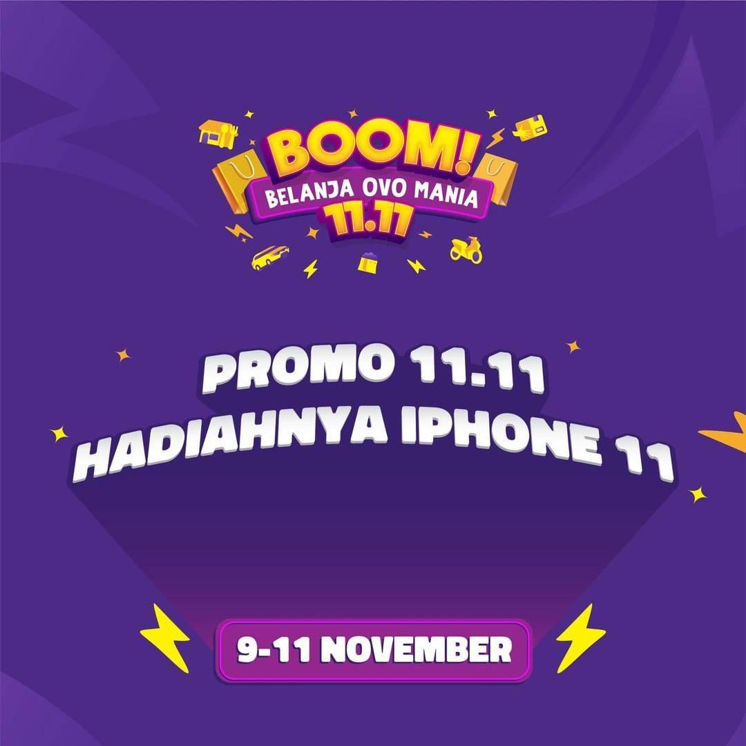 Diskon OVO Promo Boom Belanja OVO Mania 11.11