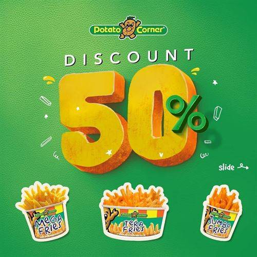 Diskon Potato Corner Promo Item ke2 Diskon 50%