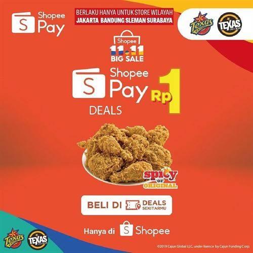Diskon Texas Chicken Promo ShopeePay Rp 1
