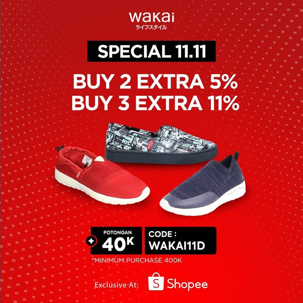 Diskon Wakai Promo Special 11.11 Discount Up To 11% Off On Shopee