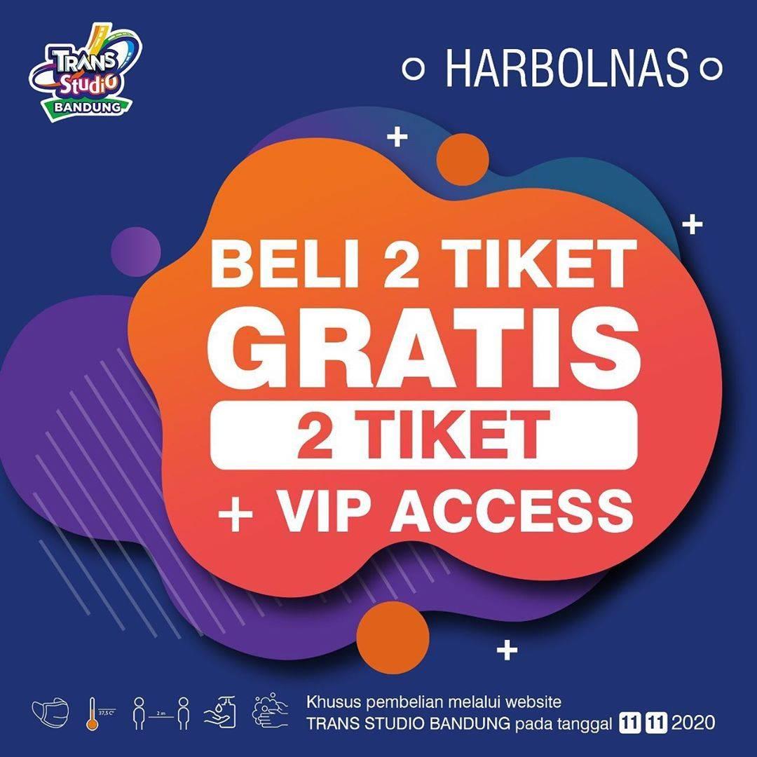 Diskon Trans Studio Bandung Beli 2 Tiket Gratis 2 Tiket + VIP Access
