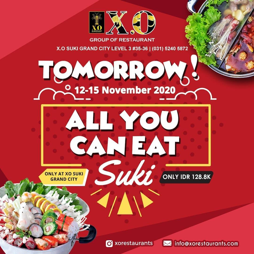 X O Suki Promo All You Can Eat Only For Rp 128 800 Disqonin