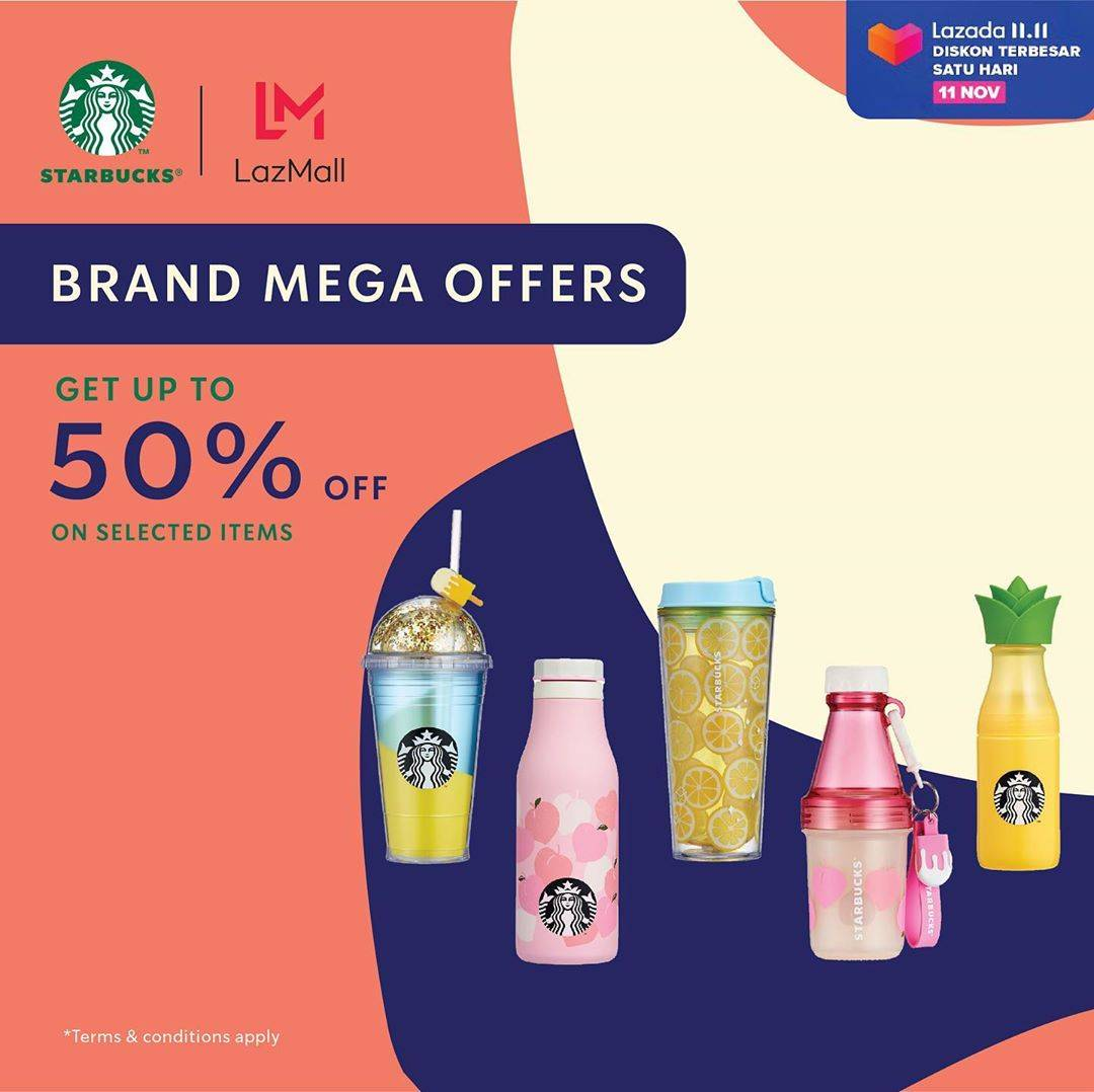 Diskon Starbucks Brand Mega Offers Get Up To 50% Off On Selected Items