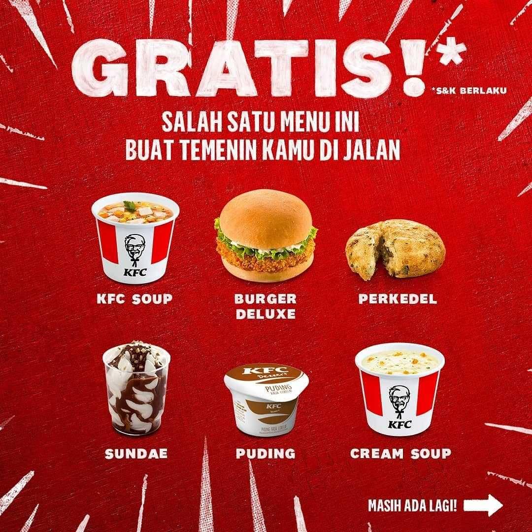 Promo diskon KFC Promo Drive Thru Gratis Menu Goceng