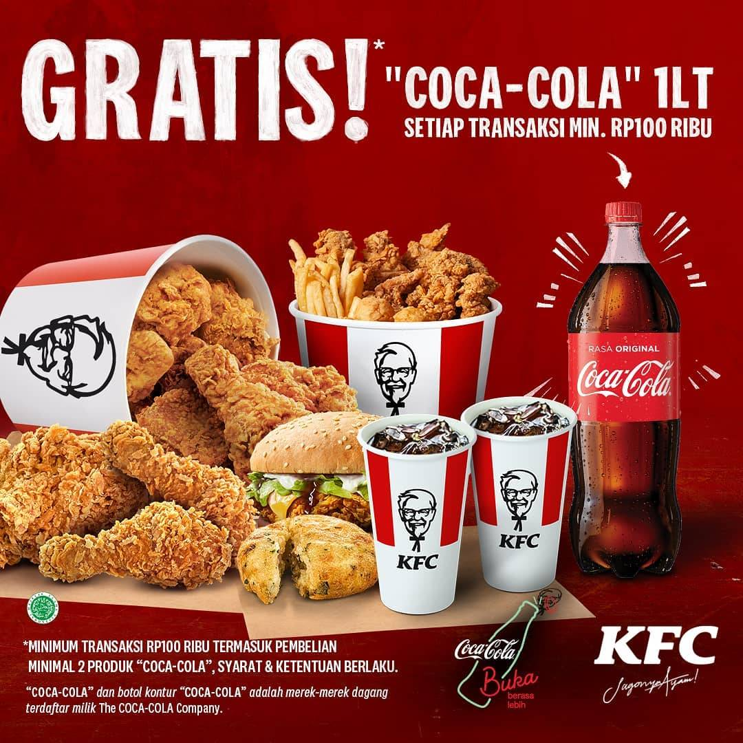 Diskon KFC Promo Gratis Coca Cola 1L