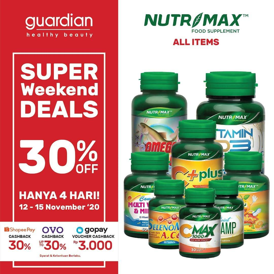 Promo diskon Katalog Promo Guardian Weekend Deals up to 70% Periode 12 - 15 November 2020