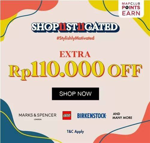 Diskon Mapemall Promo Shop11st11cated Extra 110k off