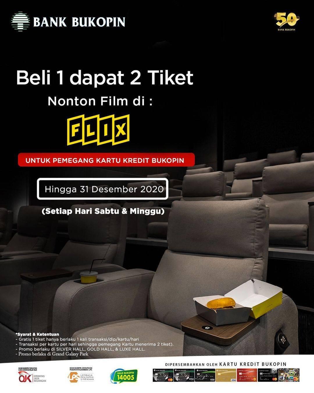 Diskon Flix Promo Beli 1 Dapat 2 Tiket Dengan Kartu Kredit Bank Bukopin