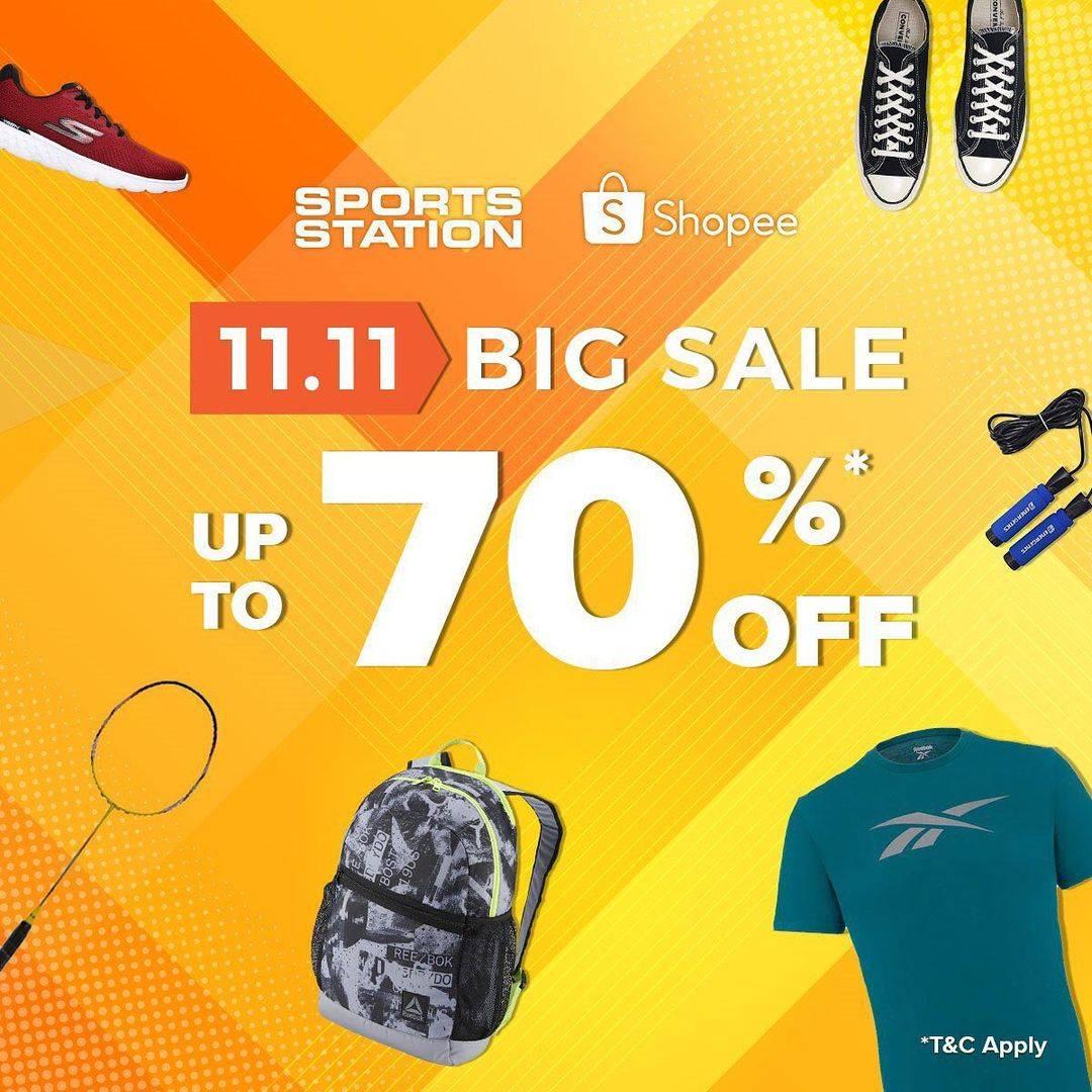 Diskon Sport Station 11.11 Big Sale Up To 70% On Shopee