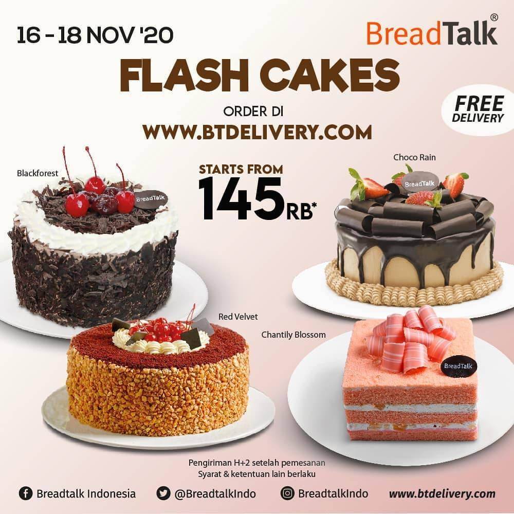 Diskon Breadtalk Promo Flash Cakes Start From IDR.145.000