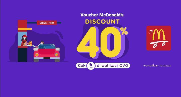 Diskon McDonalds Voucher Promo OVO Diskon 40%