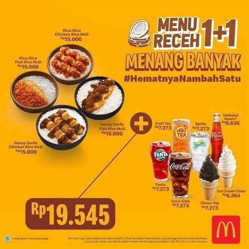 Diskon McDonalds Promo Menu Receh 1+1 Menang banyak