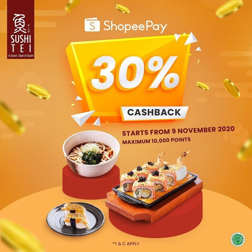 Diskon Sushi Tei Promo ShopeePay Cashback 30%