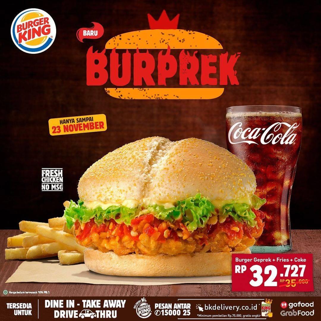 Diskon Burger KIng Promo Burprek
