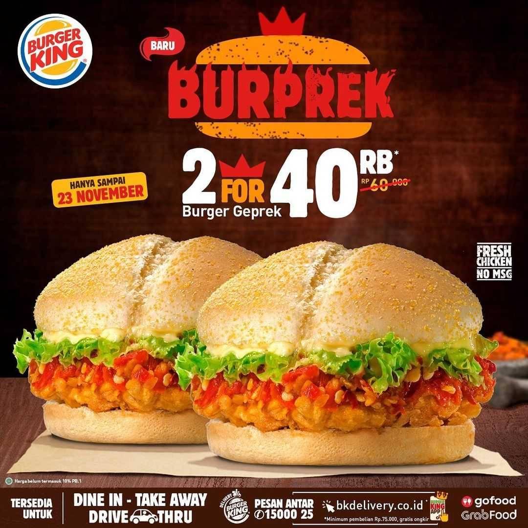 Promo diskon Burger KIng Promo Burprek