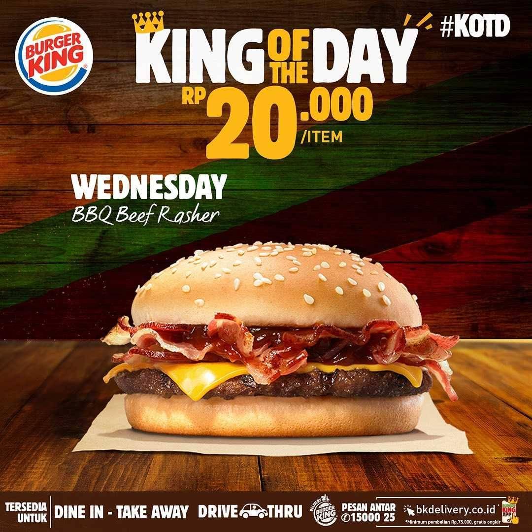 Burger King Promo King Of The Day - Menu Serba Rp. 20.000