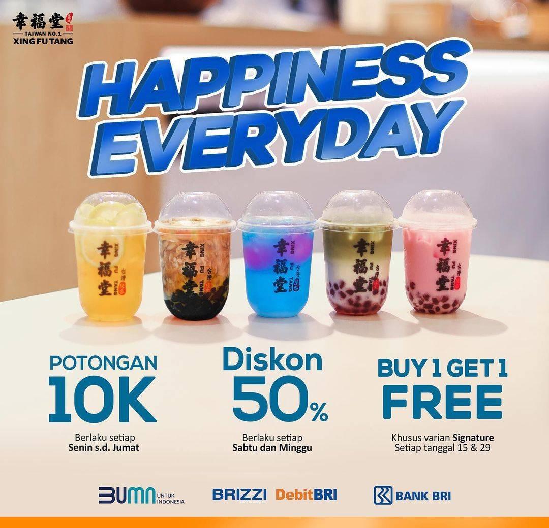 Diskon Xing Fu Tang Promo Happiness Everyday Untuk Pengguna BRIZZI & Kartu Debit BRI