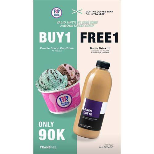 Diskon Baskin Robbins X The Coffee Bean Promo Buy 1 Free 1