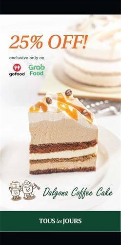 Diskon Tous Les Jours Promo Dalgona Cake 25% off