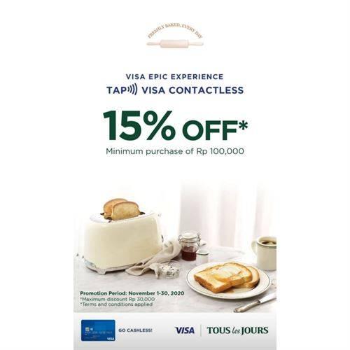 Diskon Tous Les Jours Promo Visa Diskon 15%