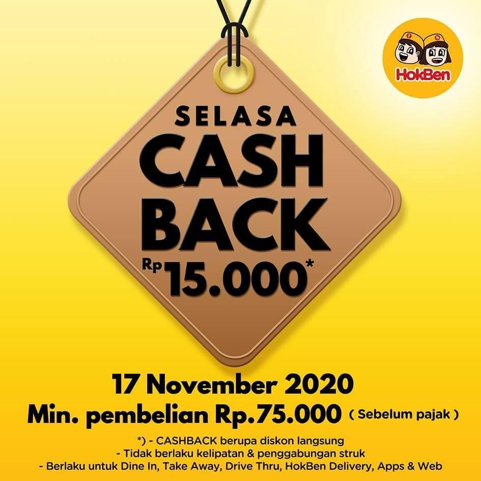 Diskon Hokben Promo Selasa Cashback potongan Rp 15.000