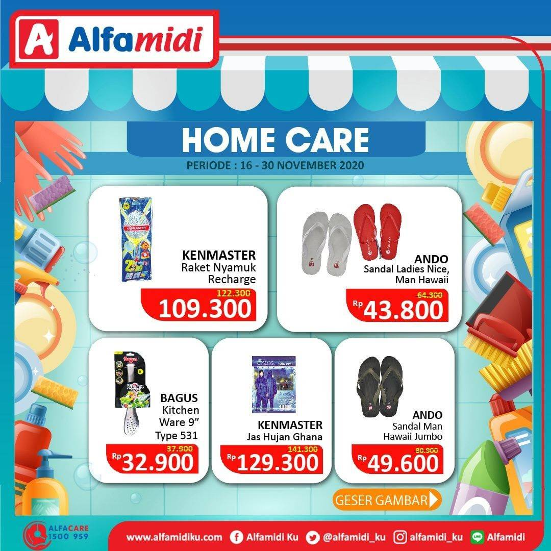 Diskon Katalog Promo Alfamidi Home Care Murah Periode 16 - 30 November 2020