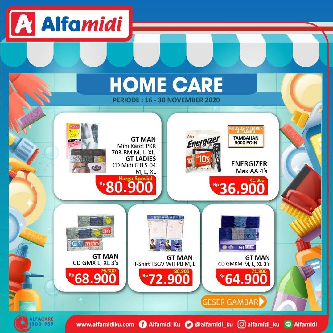 Promo diskon Katalog Promo Alfamidi Home Care Murah Periode 16 - 30 November 2020