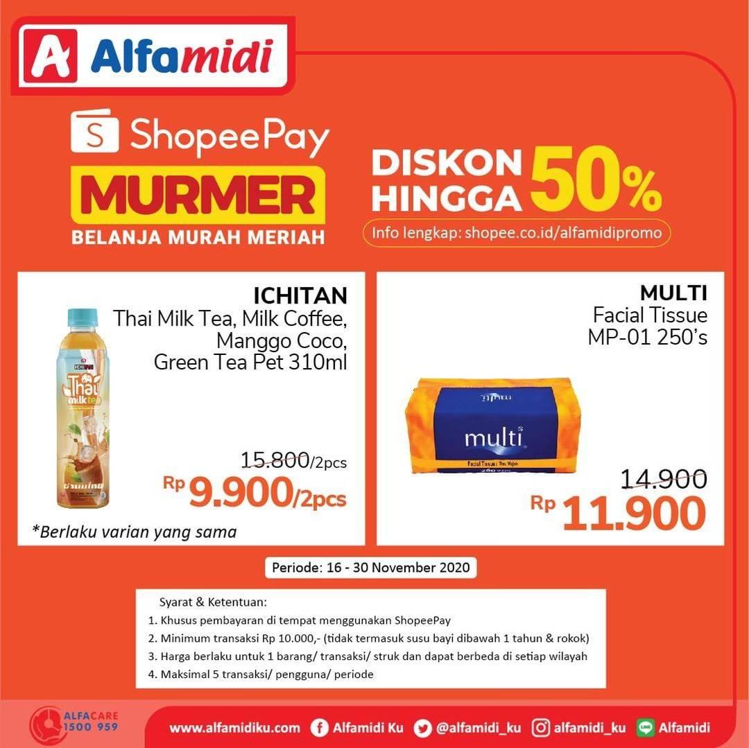 Katalog Promo Alfamidi Shopeepay Murmer 50 Periode 16 30 November 2020 Disqonin