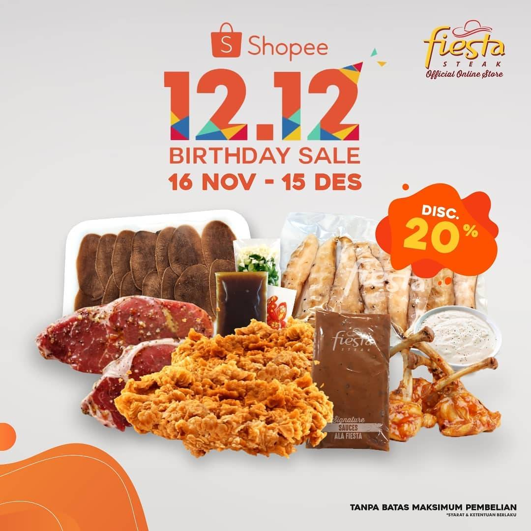 Diskon Fiesta Steak 12.12 Birthday Sale - Discount 20% Off On Shopee