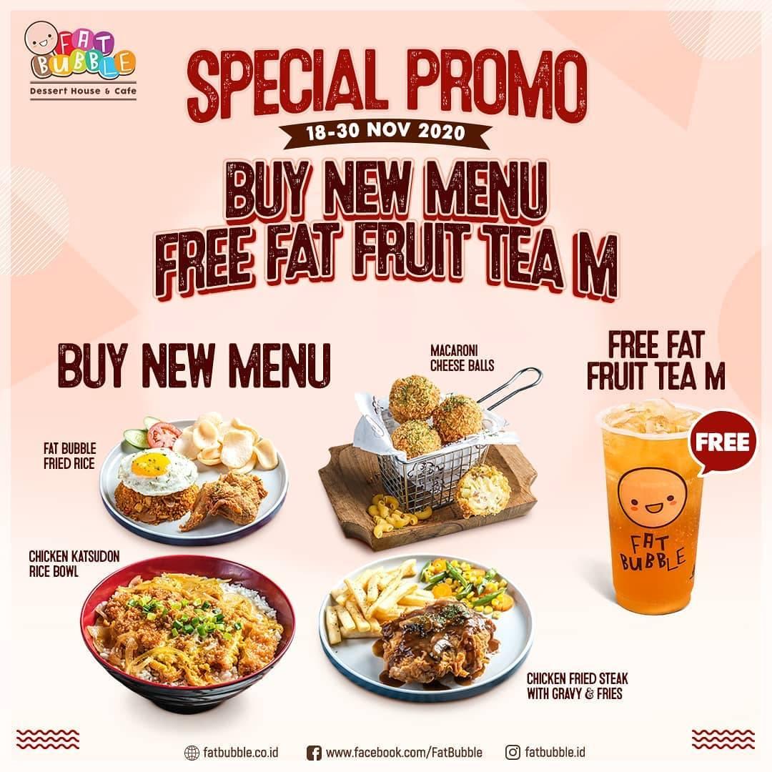 Diskon Fat Bubble Buy New Menu Get Free Fat Fruit Tea M