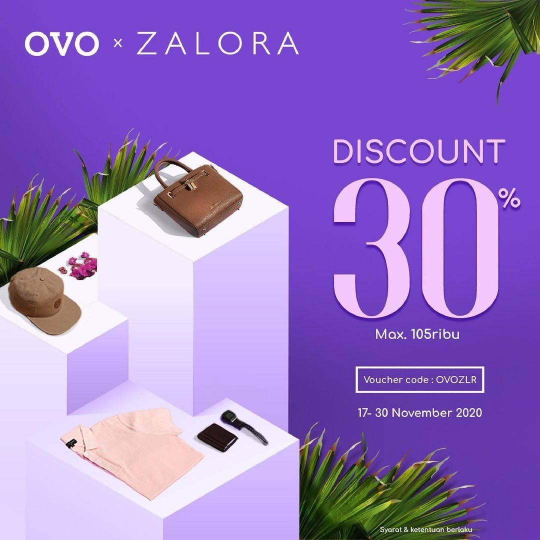 Diskon Zalora Cashback 30% Untuk Transaksi Menggunakan OVO