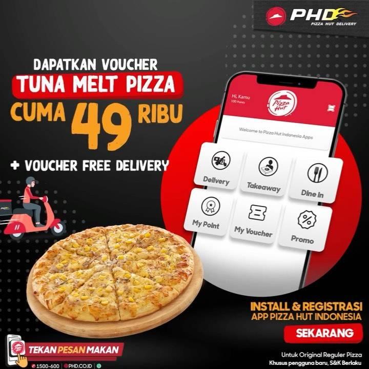 Diskon PHD Promo Voucher Tuna Melt Pizza Cuma Rp. 49.000