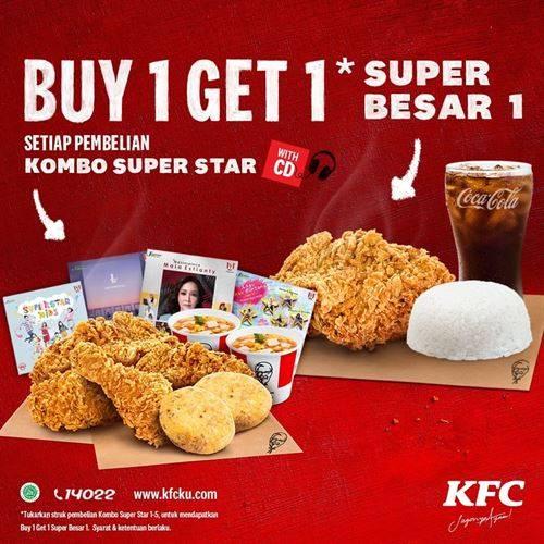 Diskon KFC Promo Buy 1 Get 1 Super Besar