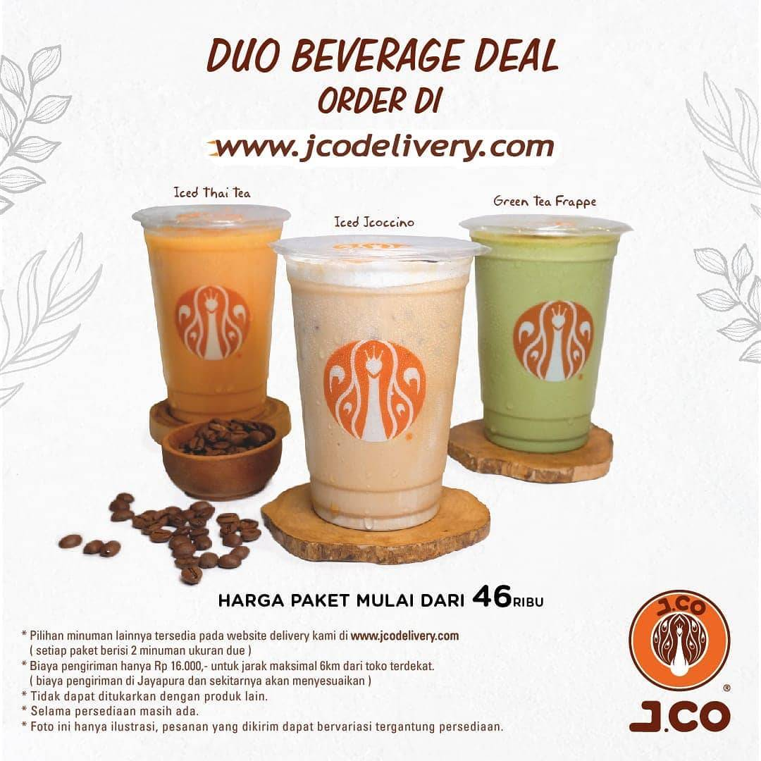 Diskon JCO Promo Duo Beverages Deal Start From IDR. 46.000