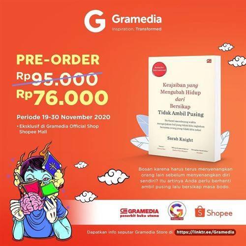 Diskon Gramedia Promo Preorder Cuma 76k