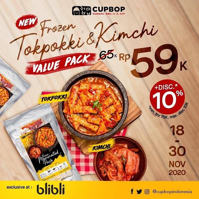 Diskon Cupbob Promo Frozen Tokpokki & Kimchi Value Pack Rp. 59.000