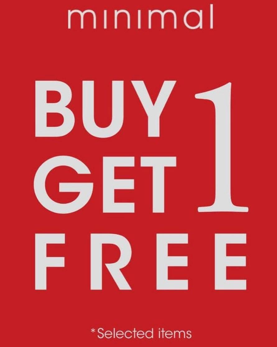 Diskon Minimal Buy 1 Get 1 Free For Selected Items