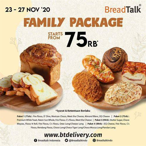 Diskon BreadTalk Promo Family Package Mulai 75k