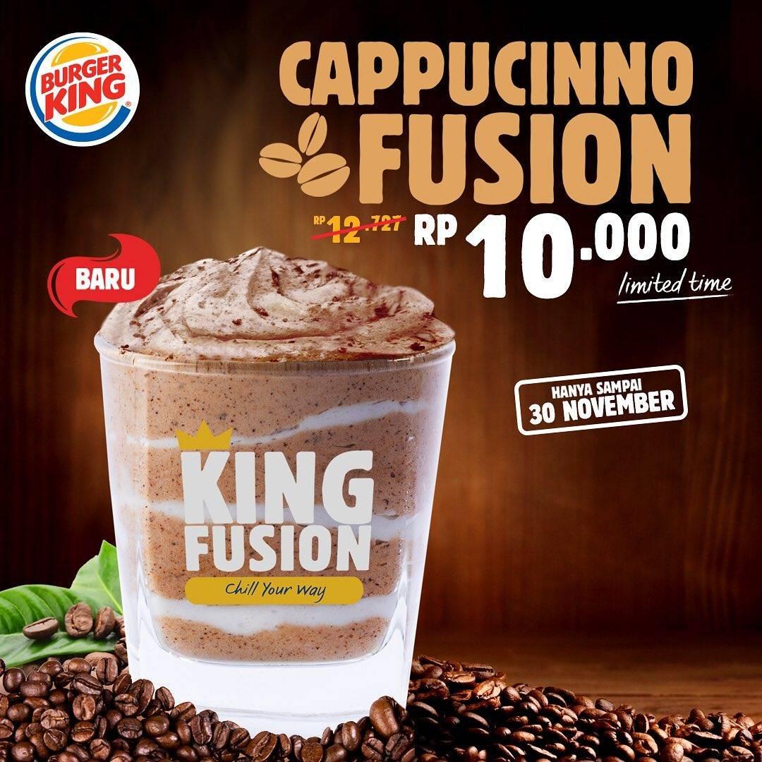 Diskon Burger King Promo Cappucino Fusion Only For Rp. 10.000